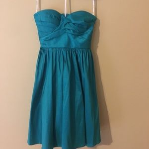 Calvin Klein 8 teal strapless sim-formal dress